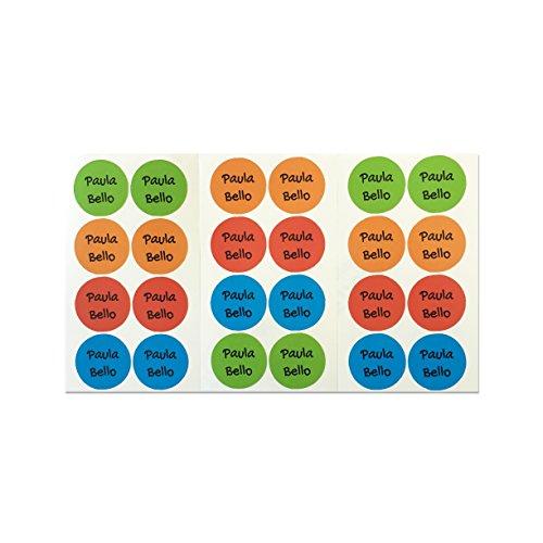 28 Etiquetas adhesivas para zapatos. Pegatinas redondas de 3 cm. (Paleta 1)