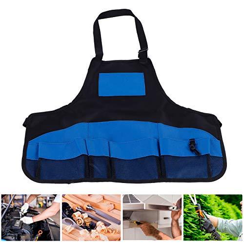 Zerodis Gartenschürze mit Taschen, mehrere Taschen Schürze Multifunktionale wasserdichte Gartenarbeitsschürze Werkzeugaufbewahrung Gartenzubehör zum Kochen, Backen