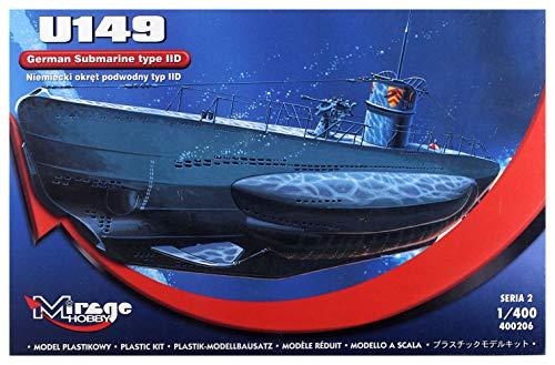 Mirage Hobby 40026, 1: 400 échelle, U149 D de type II sous-marin allemand, kit de modèle en plastique