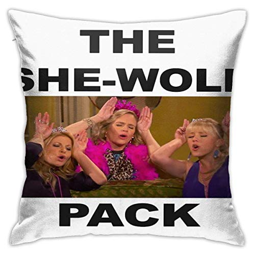 shuyang She Wolf Pack Throw Pillow Cover Home Decor Soft Square Throw Pillow Case Cushion Cover for Bed Couch Sofa Farmhouse Both Sides (18'x18')