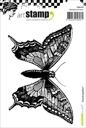 Carabelle Studio A6 Cling Stempel - Large Butterfly, Rubber, White transparent, 10 x 14 x 0.5 cm