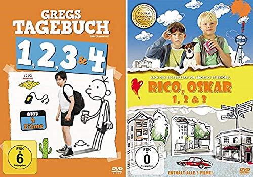 Gregs Tagebuch Teil 1-4 (1+2+3+4) + Rico, Oskar Teil 1-3 (1+2+3) [DVD Box Set]