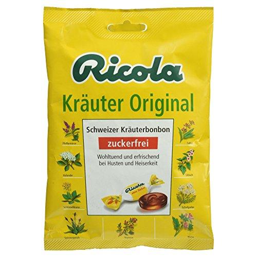 Ricola Bonbons Kräuter Original ohne Zucker, 75 g