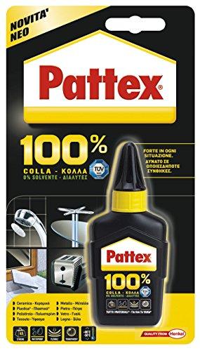 Pattex 50 g Pattex Colle 100% adhésive universelle de nouvelle génération Convient pour tous les matériaux Rendement 230 g/m² En emballage blister