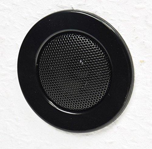 Plafondinbouwluidspreker ''Mini', halogeen-look, 8 cm Ø, 6 cm inbouw, zwart