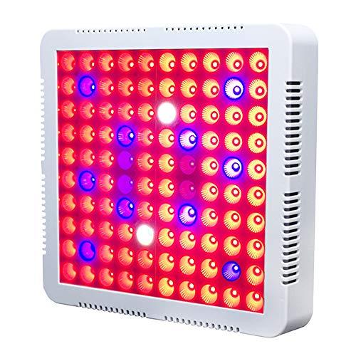 W.KING 300W LED wachsen Licht, Dual-Chip-Betriebslampe wachsen für Zimmerpflanzen, Full Spectrum Pflanze Licht mit Seil Hanger Daisy Chain für Blumen