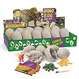 Lujex Dinosaurier Egg Toy Ausgraben Dino Ei Spielzeug Party Dinosaur Figuren Braben Kit Ausgrabungsset Archäologie für Kinder 5+ (White)