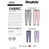 Simplicity US8268A Easy to Sew Unisex Jogger Pants Sewing Patterns, Sizes XS-XL