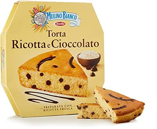 Mulino Bianco Torta Ricotta e Cioccolato per una Merenda Gustosa e Morbida - 475 g