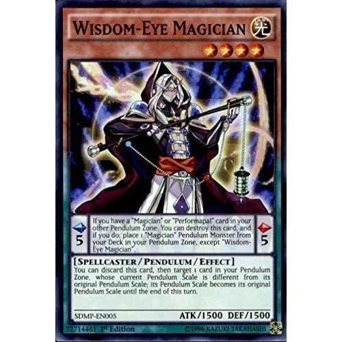 YUGIOH WISDOM-EYE MAGICIAN SDMP-EN005 SUPER 1st X3