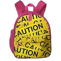 注意 子供のプリントバックパック サッチェル 収納ポーチ 多ポケット スポーツカバン ショルダーバッグ 多機能 リュックサック 防水 軽量 大容量