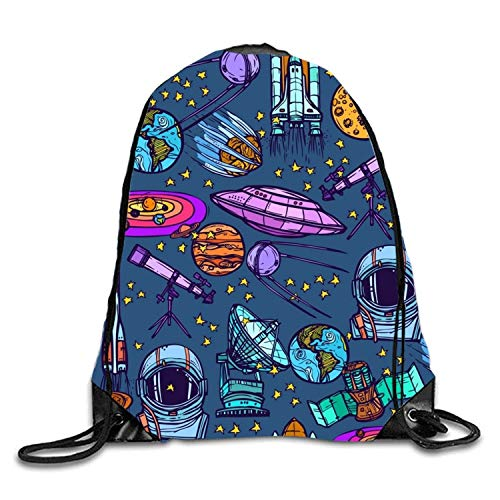 uykjuykj Bolsos De Gimnasio,Mochilas,Chaos Space Doodle Sackpack Drawstring Backpack Waterproof Gymsack Daypack For Men Women Chaos Space Doodle1 Lightweight Unique 17x14 IN