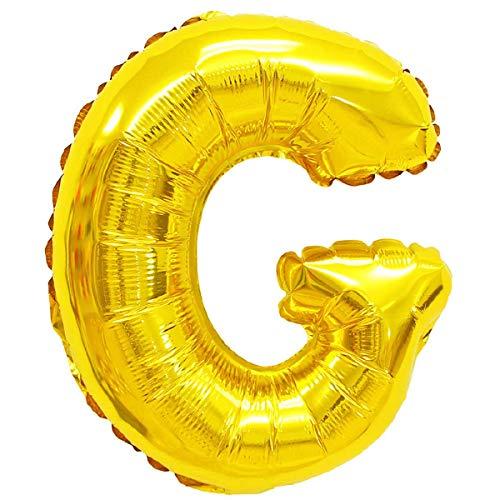 XXL LUFTBALLONS Folien-Ballons Heliumballons Buchstaben & Zahlen & Zeichen - 80CM GROßE Party-Dekoration XL für Geburtsag Hochzeit Feier - G in Gold