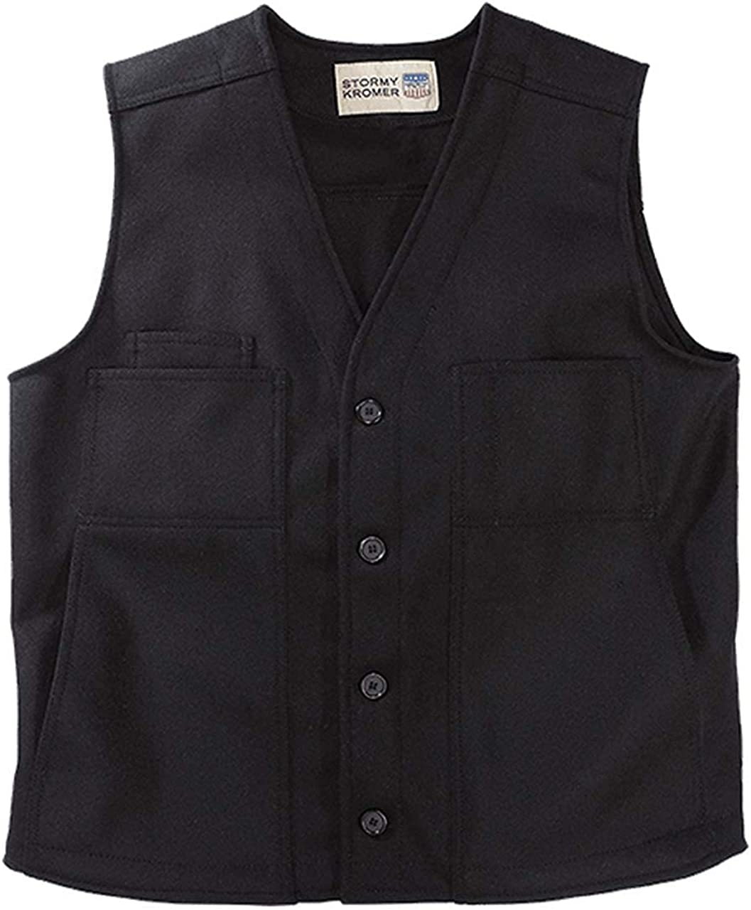 Stormy Kromer Button Vest - Cold Weather Men's Wool Vest
