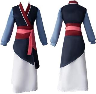 5/6 UNIDS Anime Halloween Carnaval Hua Mulan Traje de Cosplay Traje Chino Tradicional Ropa Antigua Trajes de Vestir con Accesorios