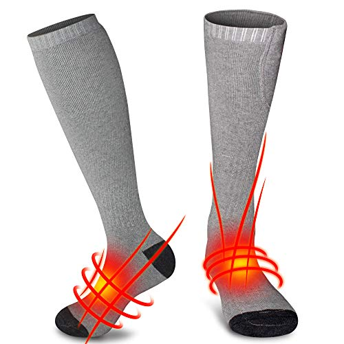 Svpro Calcetines térmicos Recargables Baterías térmicas cómodas Calcetines térmicos para Clima frío Caminatas, Camping, Calcetines de Invierno para Hombres y Mujeres