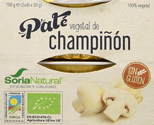 Alecosor Pate Vegetal De Champiñon Faja 2 Ud 50 Gr Bio Pack 2 Unidades Alecosor 300 g