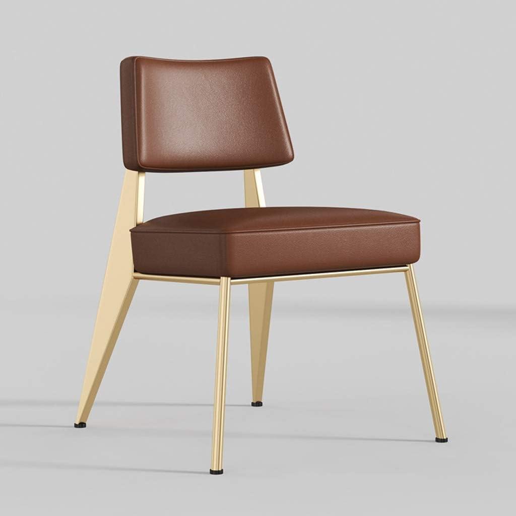 WDX- Chaise de salle, Chaise de bureau simple, créative Dossier, Chaise Loisirs, Maison adulte Chaise de salle mode (Color : Red) Brown-b