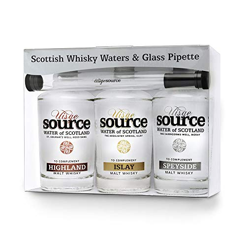 Uisge Source Spring Water for Whisky Three Regions Gift Pack with Pipette