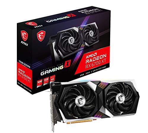 MSI Radeon RX 6700 XT GAMING X 12G Scheda grafica '12GB GDDR6, RGB Mystic Light, AMD, 3x DisplayPort, HDMI, sistema di raffreddamento a doppia ventola'