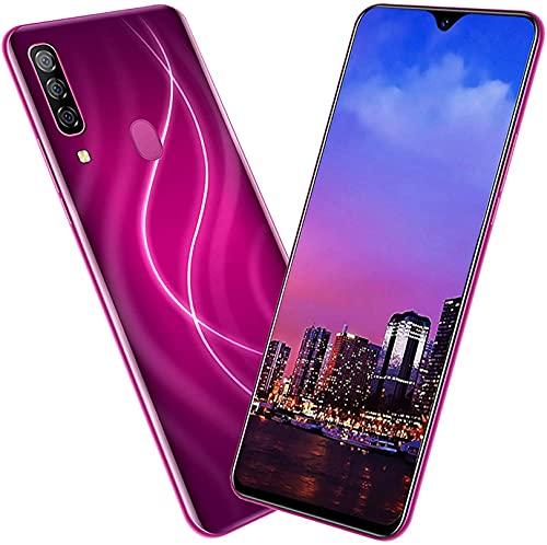 WWJ Smartphone-telefone móvel (Tela de 6,7 polegadas, 128 + 6 GB) + Câmera traseira de 24 MP + Câmera Frontal de 13 MP + Fone de ouvido + Cartão de memória de 128G + Capa para Celular + Pelí