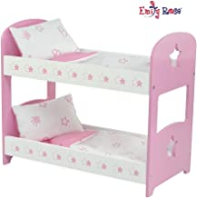 Emily Rose 18 Inch Doll Furniture for American Girl Dolls   Double Doll Bunk Bed, Includes Reversible Doll Bedding   Fits 18