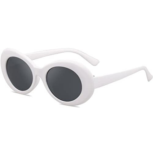 Fityle 3//pack Retro Clout Goggles Glasses Oval Bold Mod Thick Framed Sunglasses for Women Men
