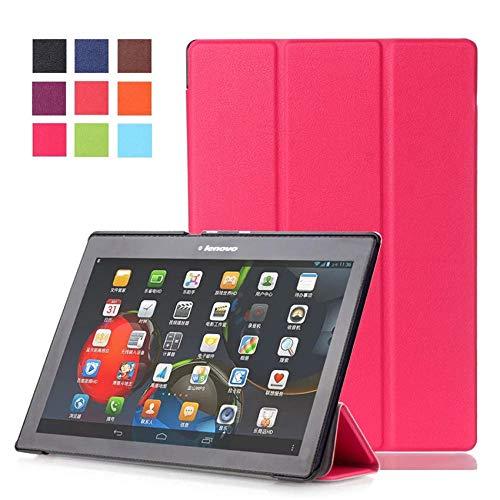 Funda para Lenovo Tab 2 A10 70F Soporte Funda de Piel para Tab2 A10-70 70 A10-70F A10-70L A10-30 X30F Tablet 10.1-Rosa