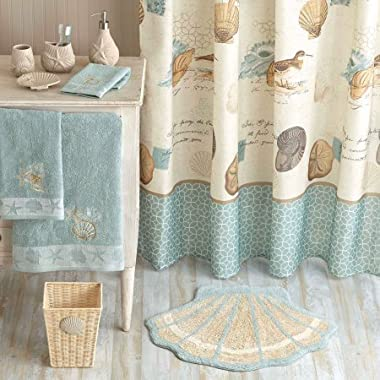 Beach Clear Sea Sand Ocean High Quality Fabric Bathroom Shower Curtain with Ring 72x72inch