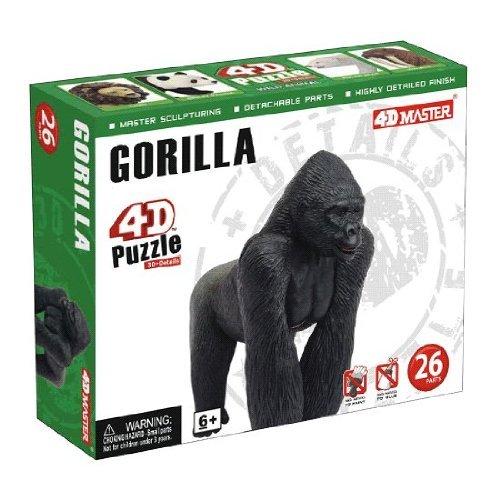 4D Master Gorilla Model Puzzle (26 Piece), One Color