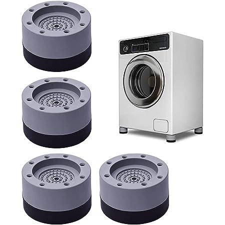 Moocuca 4 Pièces Anti Vibration Tampon, Pieds Stabilisateur Piédestal pour Machine à Laver, Patins anti-vibrations pour machine à laver, empêchent le bruit de bouger (Gray, 3.5cm)