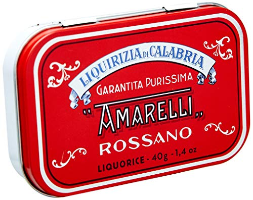 Amarelli Lakritzpastillen Rossa, medium, aus purem Süßholz, [1 x 40g.]