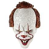 wwwl Máscara de Halloween Payaso Silicona Espalda Soul máscara Cabeza Set Halloween Horror Props Natural látex Adulto código Caliente Venta White