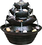 dobar 96410e Fuente Decorativa para Cuarto de Poli-Resina en imitación de Piedra con Piedras...