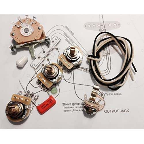 Amazon com: Deluxe Wiring Kit for Fender Strat -  022 Orange
