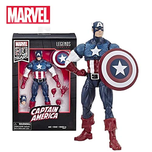6 Inches Marvel Legends Captain America 80th Anniversary Serial 17cm Action Figures Kids Toys New Year Gifts for Children