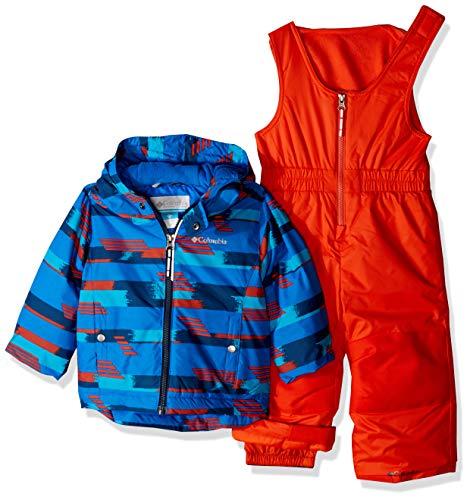 Columbia Kids' Toddler Frosty Slope Set, Super Blue Strokes, 4T