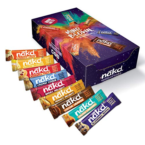 Nakd Mind Blown Fruit & Nut Bar Mixed Case - Vegan Bars - Gluten Free - Healthy Snack, 35 g (Pack of 18 Assorted)