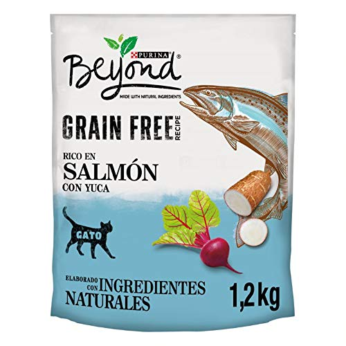 Purina Beyond Grain Free pienso Natural para Gato con Salmón 6 x 1,2 Kg - 1 Sacos