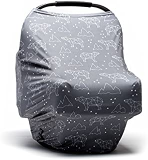 Moody Park Baby - Baby Car Seat Cover and Nursing Cover (Arctic Bears Print)