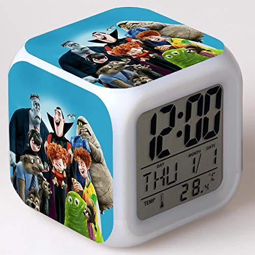 Wizard Hostel Alarm Clocks Kids LED Clock Cartoon Night Light Flash 7 Color Changing Digital Clock Electronic Desk Clock,Style 45, Birthday