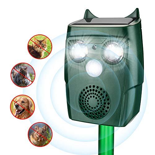 ULTPEAK Repellente Gatti,Solare Repellente Serpenti Ultrasuoni per animali 4 modalità, Serpente, Gatto,Piccioni,Conigli,Scoiattolo,Procione, per Giardino e Cortile