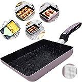 Tamagoyaki Japanese Omelette Pan / Egg Pan - Non-stick Coating - Rectangle Frying Pan Mini Frying...