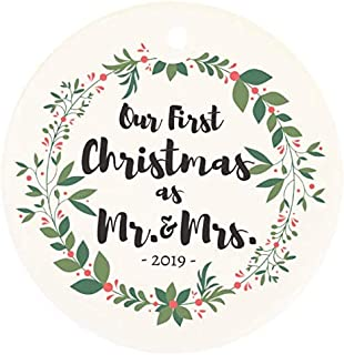 Live It Up! Party Supplies Our First Christmas As Mr. & Mrs. Ornament 2019