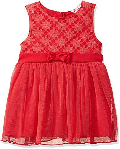 Amazon Brand – Jam & Honey Baby-Girl's Polyester Skater Knee-Length Casual Dress