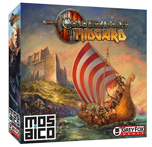 Jogo de Tabuleiro Conquistadores de Midgard, edição de Luxo, Mosaico Jogos