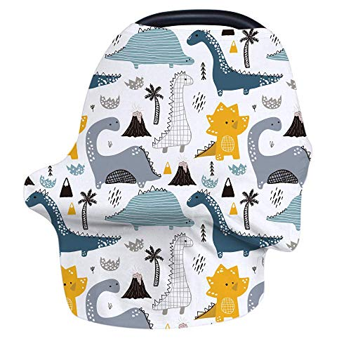 Nursing Cover Breastfeeding Cover, Stretchy Car Seat Cover for Babies, Soft Breathable Infant Carseat Canopy, Shopping Cart/High Chair/Stroller Covers