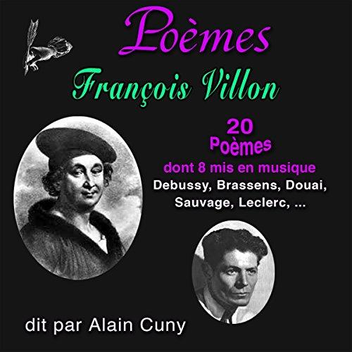 Couverture de François Villon - 20 Poèmes, dont huit mis en musique
