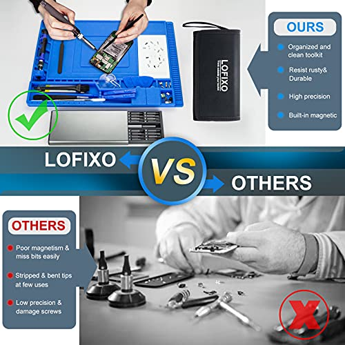 Computer Tool kit,Ps4/Laptop screwdriver kit,LOFIXO 92-Precision screwdriver set with spudger,Electronics Repair Tool kit for iPhone,Ps3/Ps5,pc,Xbox one controller,Mac,Nintendo Switch,Eyeglass,tablet