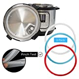 Houseables O Ring For Insta Pot, Sealing Rings, Fits 6qt and 5qt Instant Pots, 3 Pk, Silicone, Pressure Cooker, Food-Grade Gasket, Multicolor, No BPA, Genuine Replacement Parts, Dishwasher Safe
